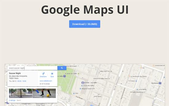 Google-Maps-UI