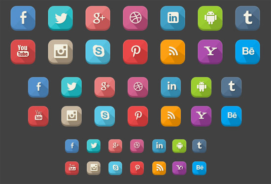Long-Shadow-Social-Icons