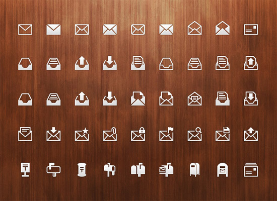 Mail-PSD-Icon-Set