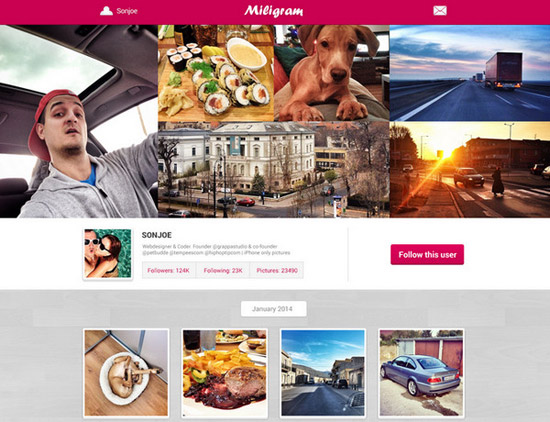 Miligram-home-page