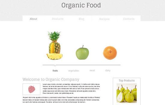 Minimal-HTML5-Template-for-Organic-Food-Website