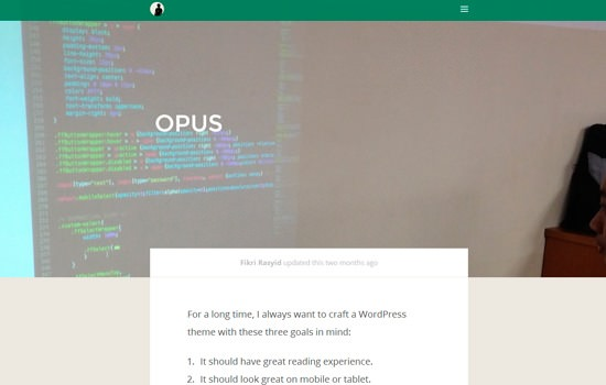 Opus WP theme