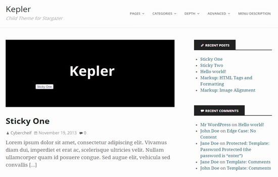 kepler Wp theme