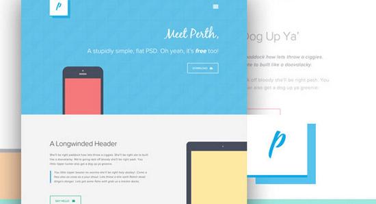Perth---A-Free-Flat-Web-Design
