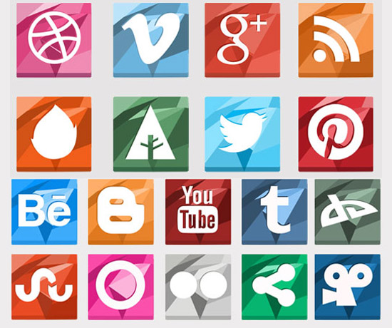 Polygonal-Social-Media-Icons