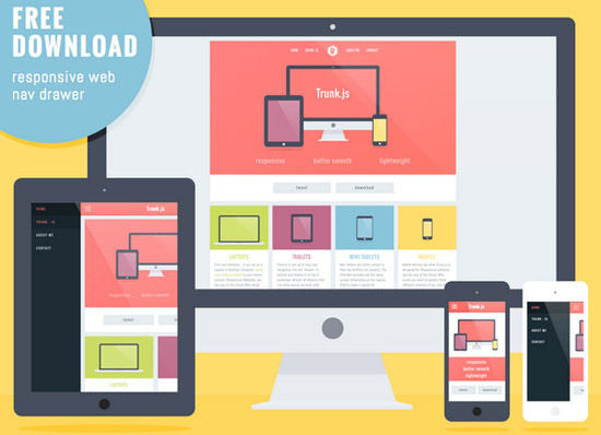 Responsive-layout-with-Navigation-Drawer-by-Rob-Luke