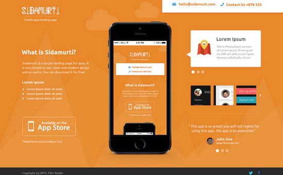 Sidamurti---PSD-landing-page-for-Apps