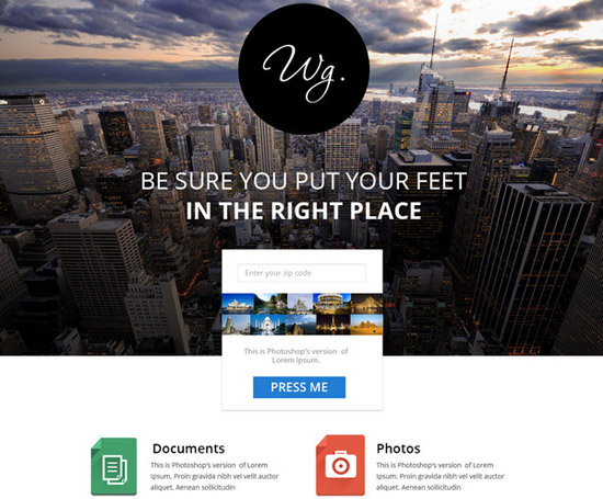 Single-Page-Free-Website-Template
