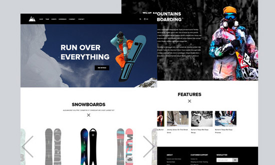 Snowboarding-Website-by-Andrey-S