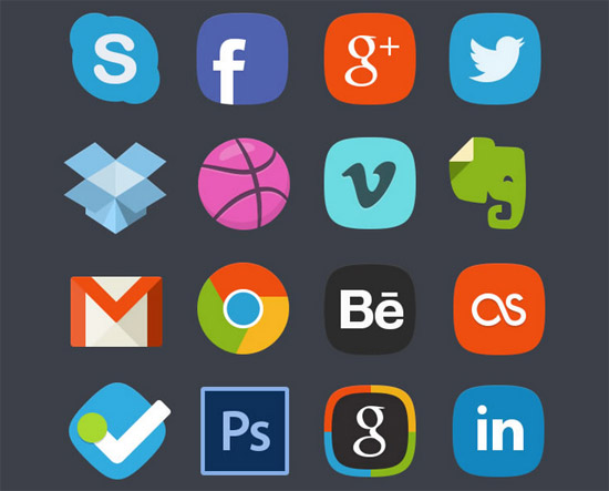 Social-Media-Badges-Icon-Set