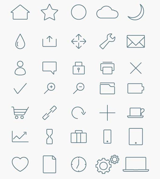 Stylized-Minimalist-Icon-Collection
