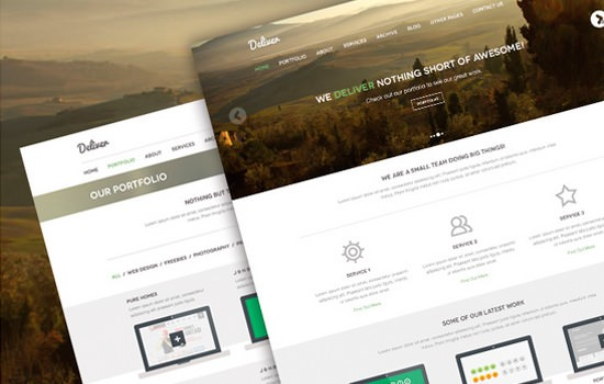 Deliver PSD template