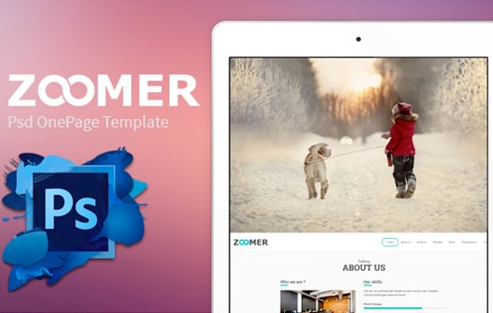 Zoomer PSD template