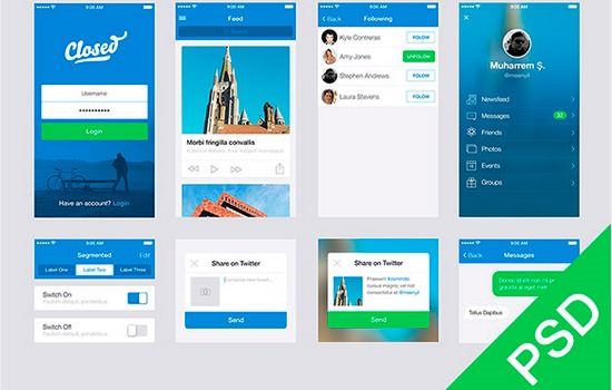 App design UI set