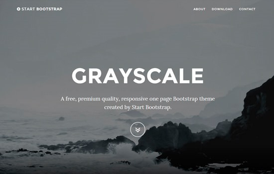 Grayscale HTML template