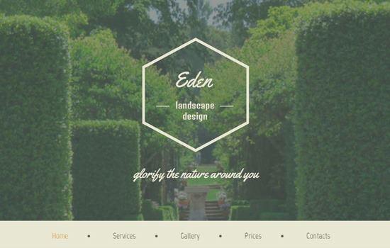 Eden HTML template