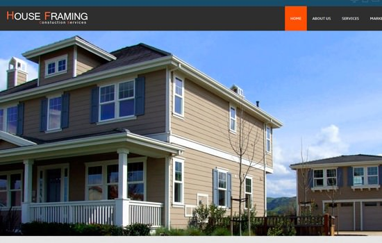 House Framing HTML template