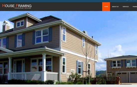 House Framing HTML template