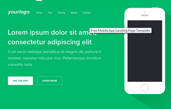 Mobile PSD app template