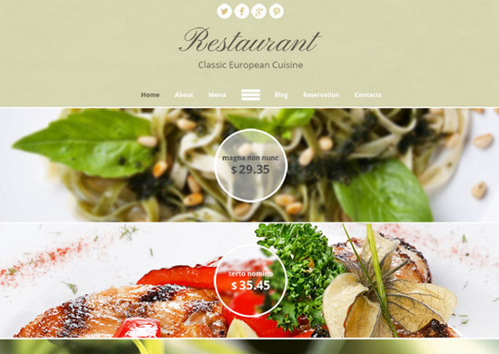 Theme-for-Restaurant-Site