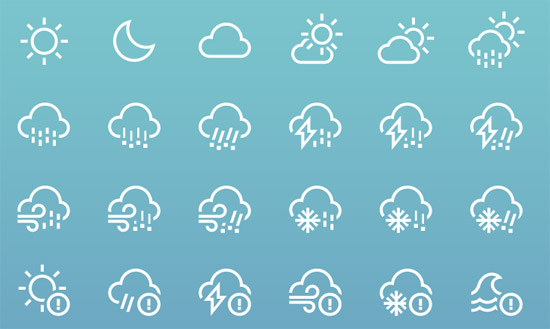 Weather-icons-by-heeyeun
