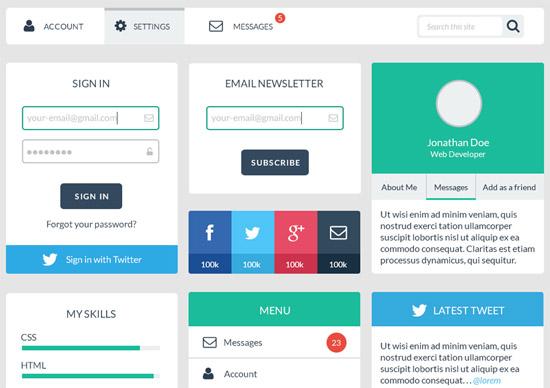 Web-User-Interface-Design-Kit
