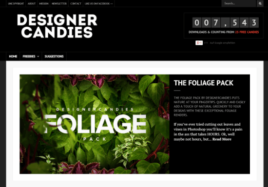 DesignerCandies: Brand-new Service Offers Free Design Resources in the Public Domain