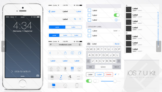 iOS-7-UI-Kit