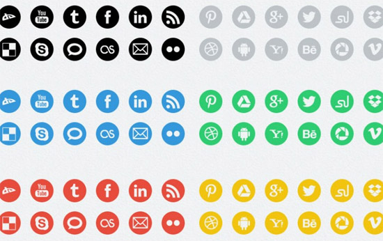 round-social-media-icons