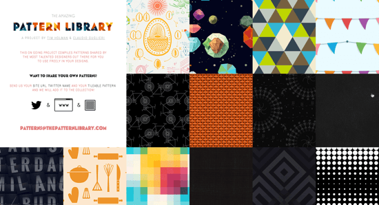 thepatternlibrary-homepage