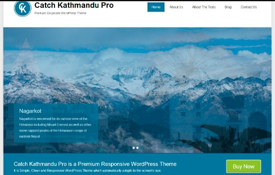 Catch Katmandu WP theme