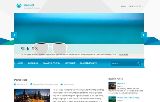 Summer WP theme