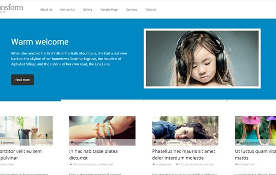 i-transform WP theme