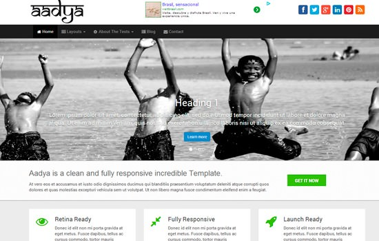Aadya WP theme