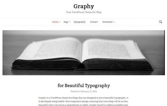 Graphy WP theme
