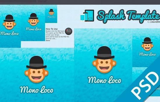 Splash page template