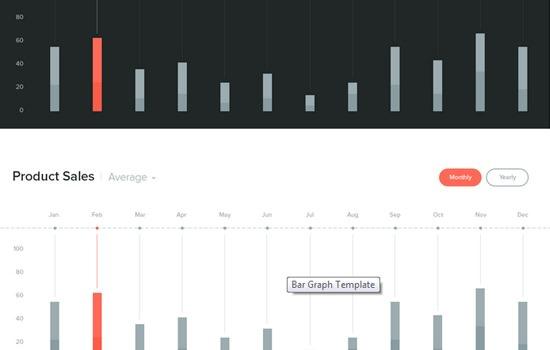 Bar Graph PSD template