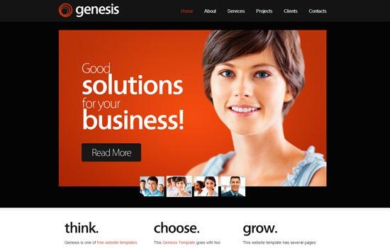 ZGenesis HTML template