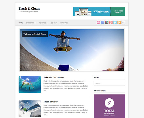 fresh-&-clean-minimal-wordPress-theme