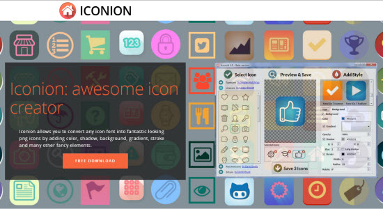 Iconion: New Tool Converts Icon Fonts To Icon Files