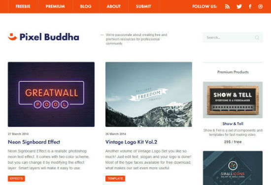 Brand-new Service PixelBuddha Offers At Least One New Design Freebie per Week