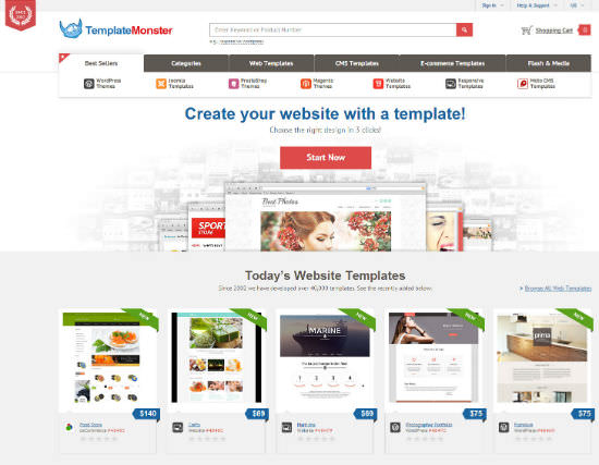 TemplateMonster: More Than 30,000 Templates For Your Next Web Project