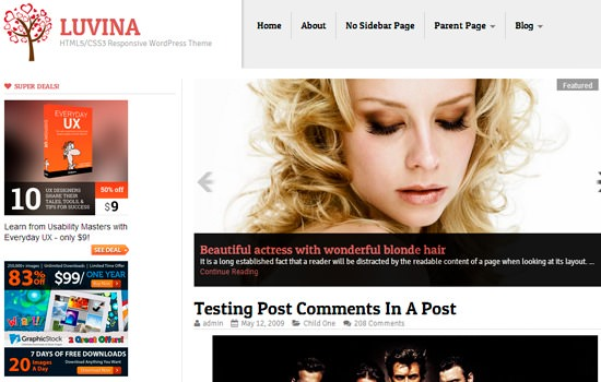 Luvina WP theme