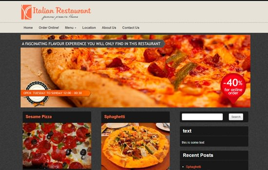 Italian Restaurant WP theme