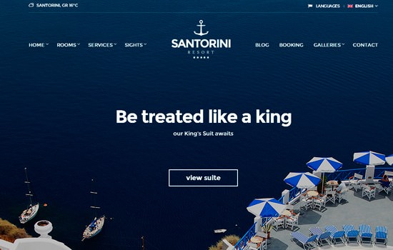 Santorini WP theme