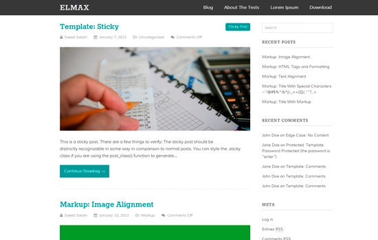 Elmax WP theme