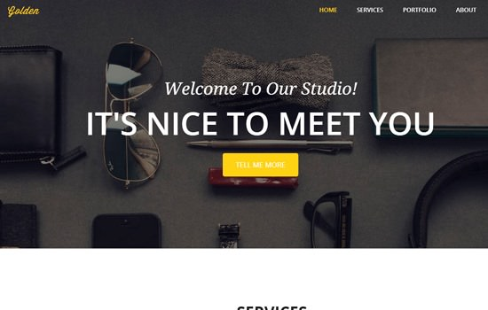 Golden HTML template