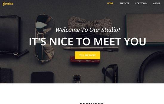 Golden HTML template