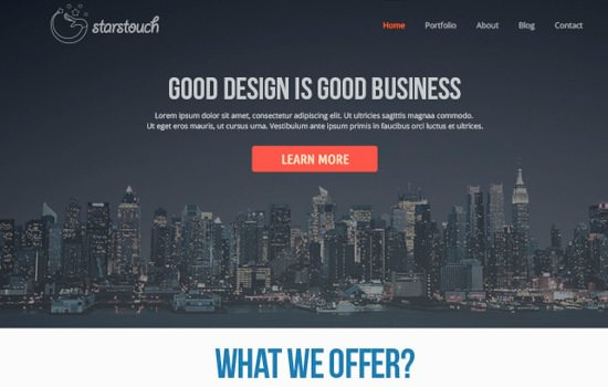 Starstouch PSD template