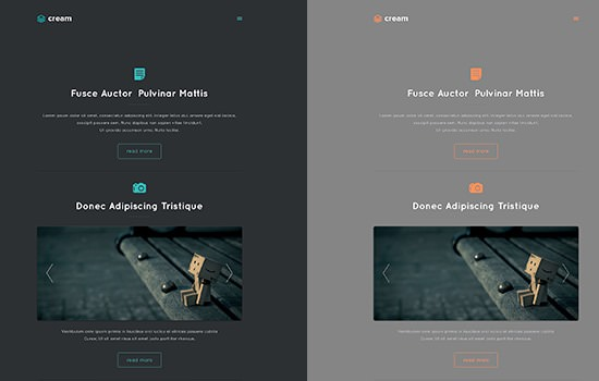 Cream PSD template